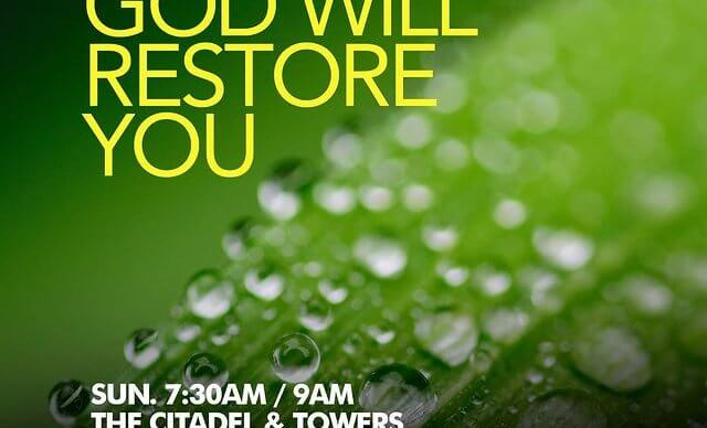 God will restore you - 230121