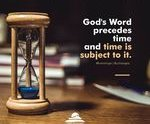 God's word precedes time