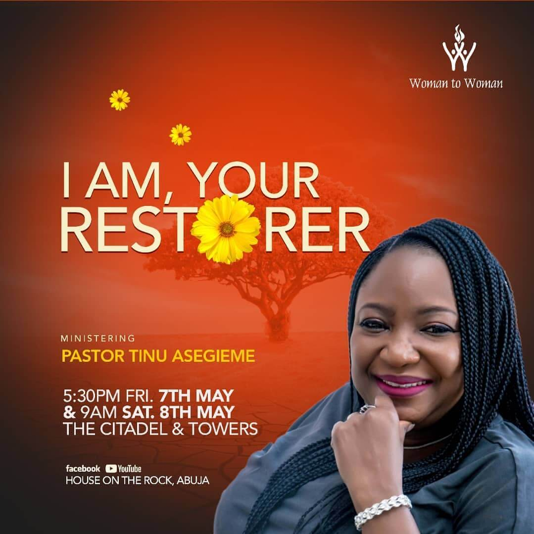 T am your restorer - Pst Tinu Asegieme